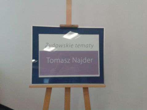 """Otwarcie wystawy fotografii """"Żydowskie tematy"""" Tomasza Najdera"""