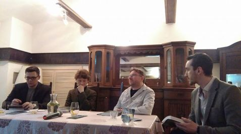 """Dyskusja wokół pisma """"Narracje o Zagładzie"""" (dr Paweł Wolski, dr Piotr Krupiński, dr Piotr Weiser, dr Bogdan Balicki [prowadzenie])"""